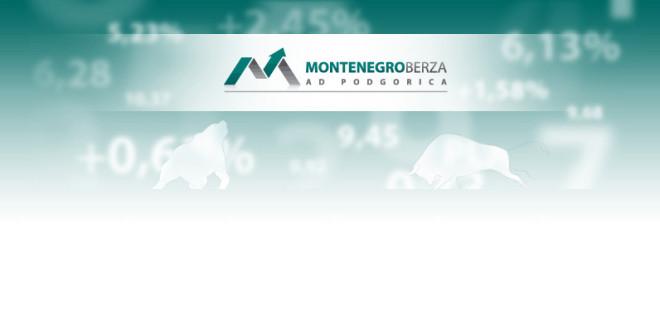 Bilten Montenegroberze za april: Ukupan promet 7.383.477 eura