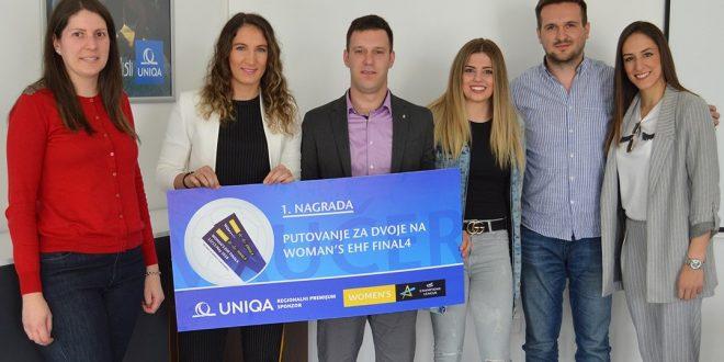 Rukometašice Budućnosti uručile nagrade dobitnicima UNIQA nagradne igre