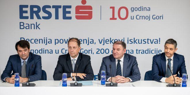 Erste banka obilježava deceniju poslovanja u Crnoj Gori i dva vijeka postojanja Erste Grupe