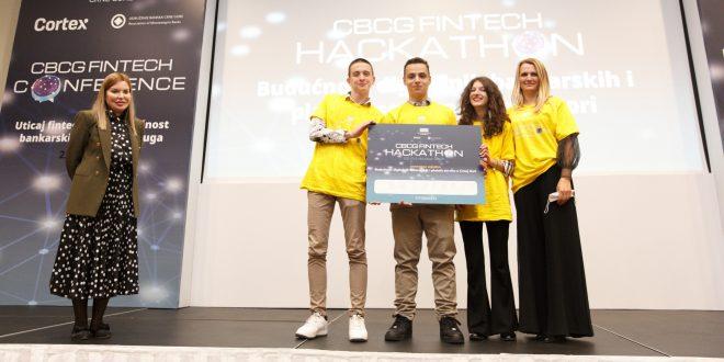 """Završen prvi CBCG FinTech Hackaton: prva nagrada za """"Budućnost"""""""